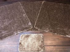 ROMANY WASHABLES 120x160CM XXLARGE SIZE SPARKLY SETS OF 4 DK BEIGE MATS GEL BACK